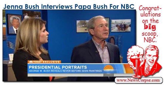 NBC Interview Jenna/George Bush